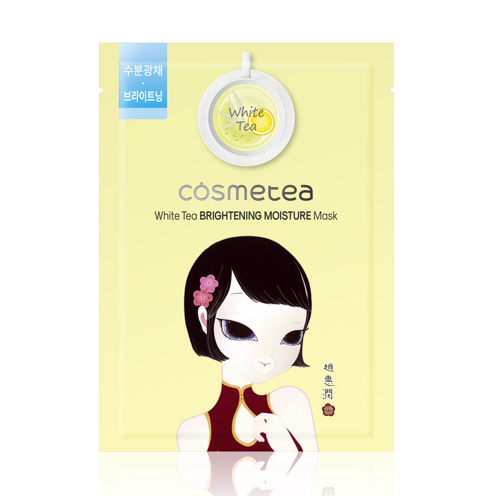 Cosmetea White Tea Brightening Moisture Mask - 1 ea