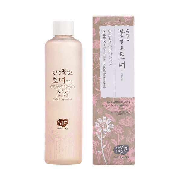Whamisa Organic Flowers Super Size Toner Deep Rich