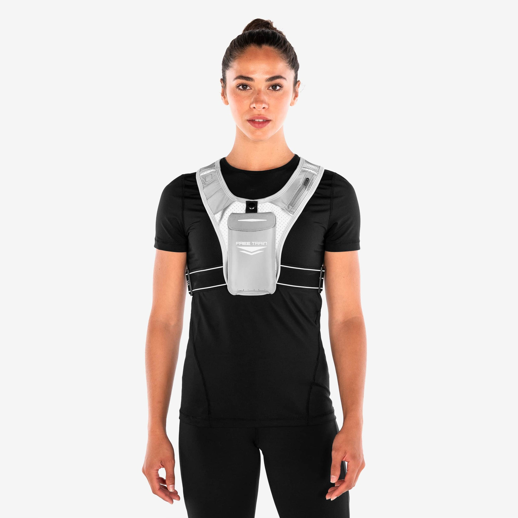 Reflective running vest with pockets