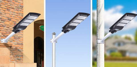 all in one solar street light mounting