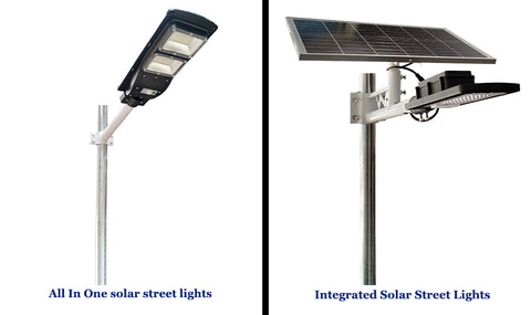 two types of solar street lights