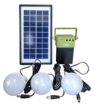 Solar Emergency Home Light with 3 Bulb - TTSEHL3W (Pack of 6)