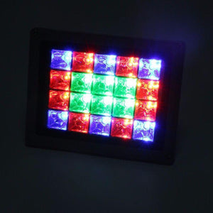 Solar Garden Fancy Flood Light White - TTSGFFL10W -color-lights-blue-red-green