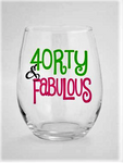 40th birthday wine glass | turning 40 birthday wine glass