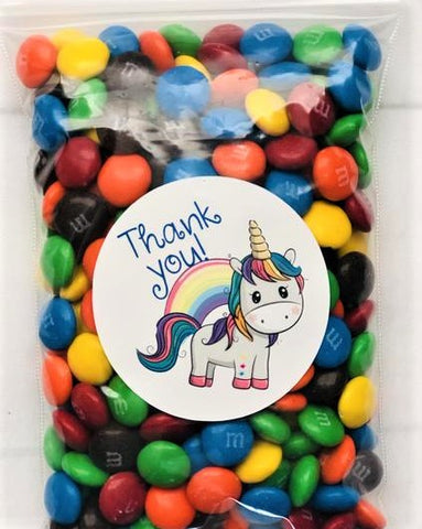 unicorn birthday party ideas |personalized candy favors