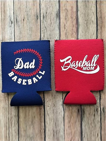 Baseball Mom/Dad Baseball Can Sleeve