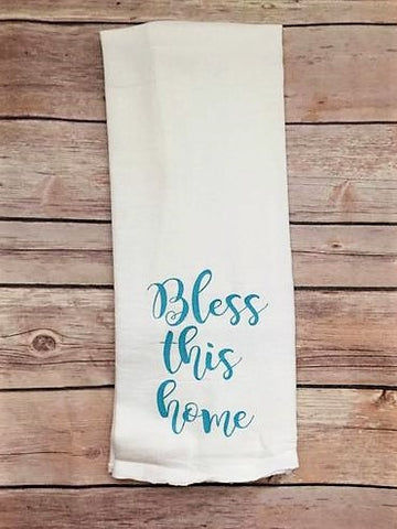 """Bless This Home"" Kitchen Towel"
