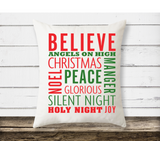 Christmas pillow | holiday decor| believe in Christmas
