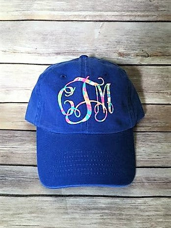 Pattern Printed Monogram Hat