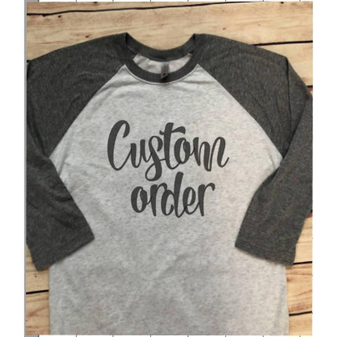Custom raglan T-shirt