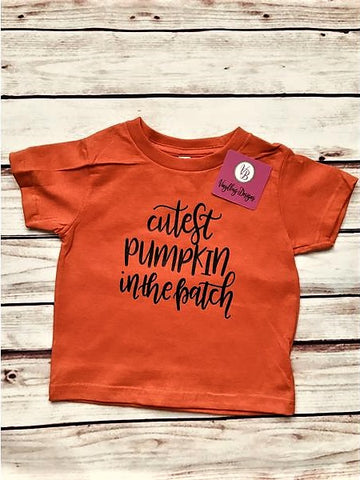 """Cutest Pumpkin in the Patch"" T-Shirt"