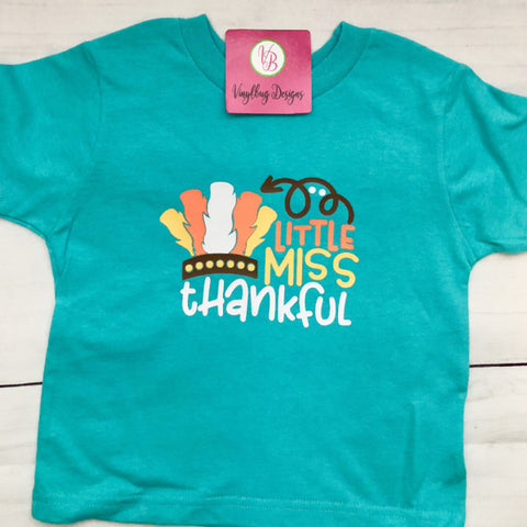 Little Miss Thankful | Thanksgiving Toddler T-shirt Girl