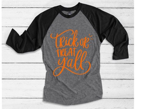 Trick or Treat y'all Women's Halloween T-Shirt | Funny Halloween Shirt