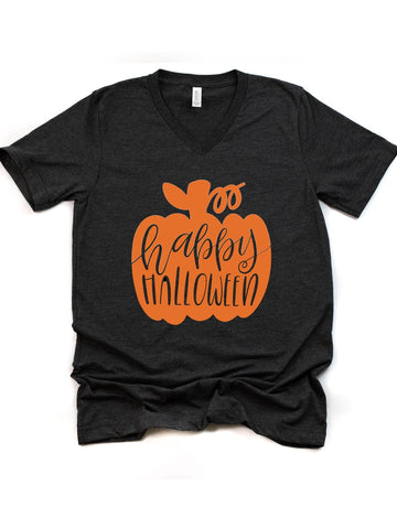 Ladies Halloween shirt | pumpkin shirt| happy Halloween
