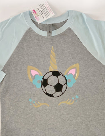 Girls soccer shirt| Girls Unicorn shirt