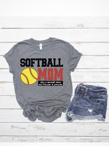 Softball Shirt for Moms V-Neck T-shirt