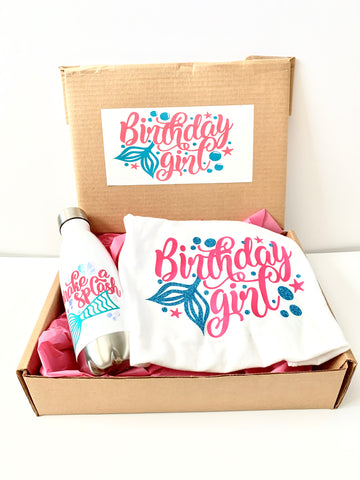 Mermaid Girl Birthday Gift Box