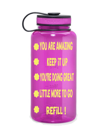 Time labeled water bottle| you are amazing water bottle| hydration bottle