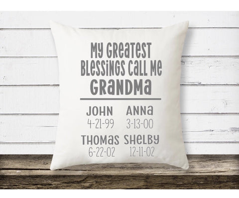 grandma gift ideas| pillow for grandma