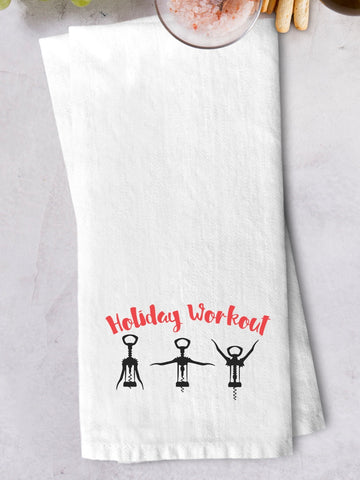 """Holiday Workout"" Kitchen Towel"