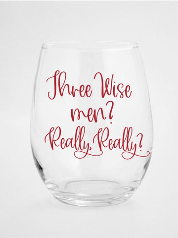 Sarcasm Wine Glass|  Funny Christmas Wine Glass