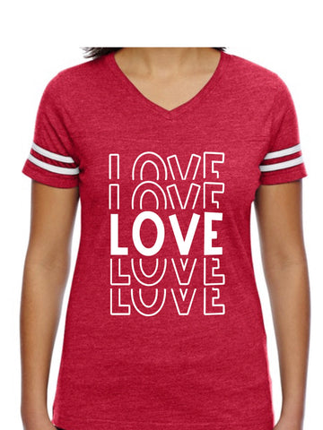 Love Red Valentines Graphic Tee