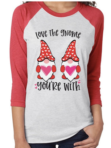 Valentine's Shirt Gnome with Hearts