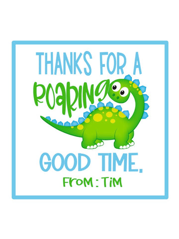 Dinosaur Party Gift Tag Stickers