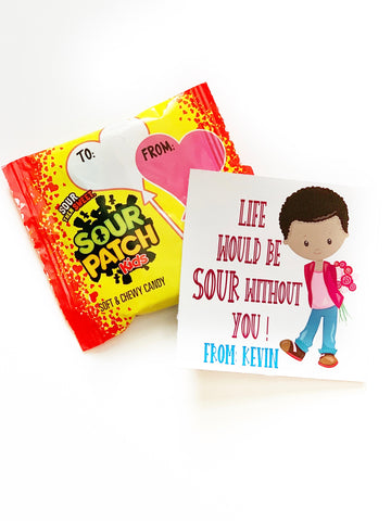 Sour Patch Gift Tag Sticker | Valentine's Cards for Classroom