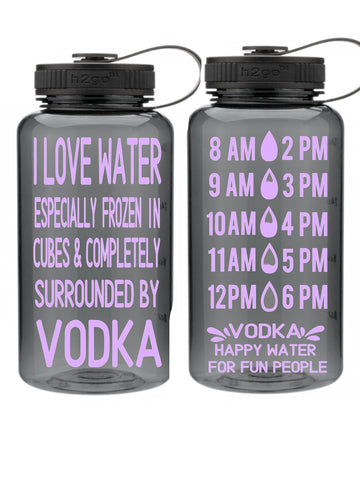 Water and Vodka - Water Tracker Bottle