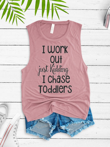 I chase toddler Muscle Tank Top