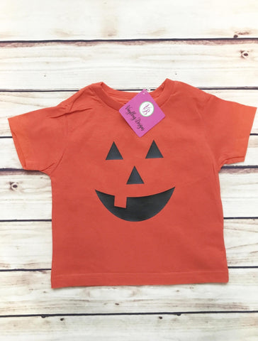 Halloween pumpkin toddler shirt