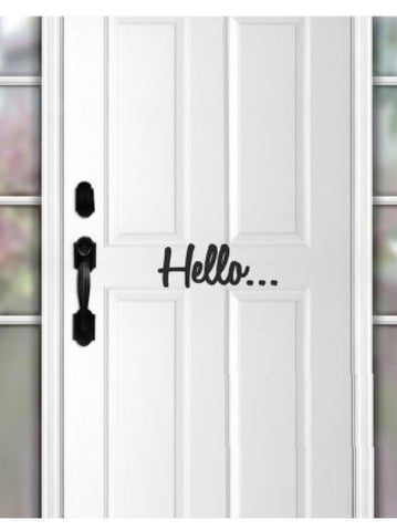 """Hello"" Door Decal"