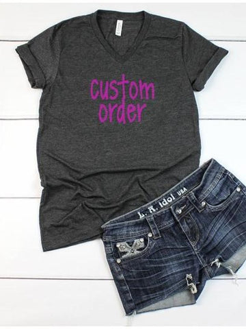 Custom V-Neck T-Shirt