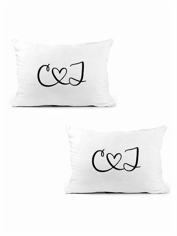 wedding gift for couple| monogram pillow cases |Husband and Wife Monogram Pillowcases