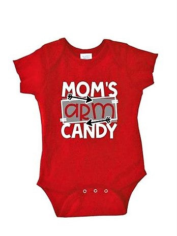 """Mom's Arm Candy"" Baby Onesie"