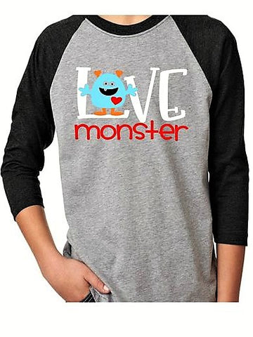 love Monster | Kids Valentine's Day Shirt