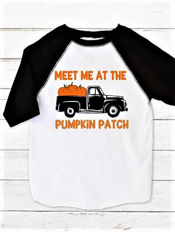 """Meet Me at the Pumpkin Patch"" Raglan T-Shirt"
