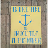 Nautical marriage sign