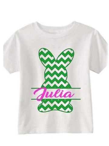 Personalized Easter Bunny T-Shirt | Girl Easter Shirt Personalized Easter t-shirt