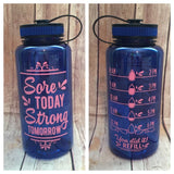 Sore today strong tomorrow water bottle tracker
