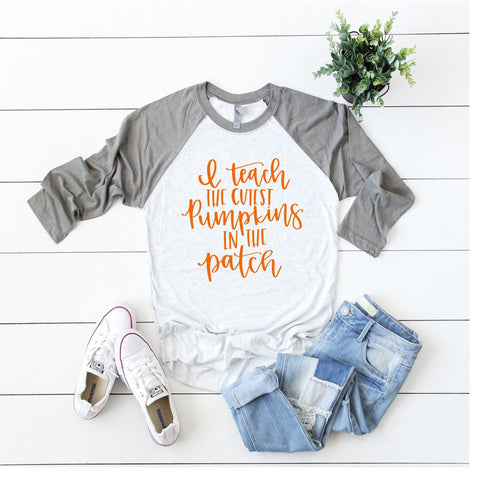 I Teach the Cutest Pumpkins in the Patch | Teacher Fall Halloween Shirt