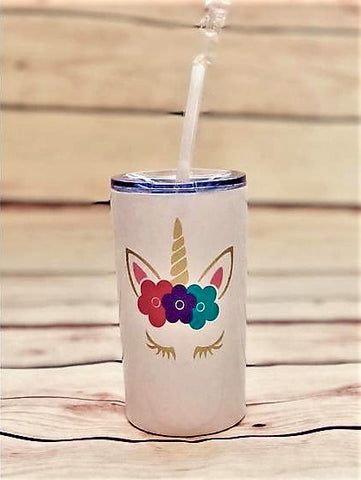 unicorn tumbler | personalized stainless steel kid cups