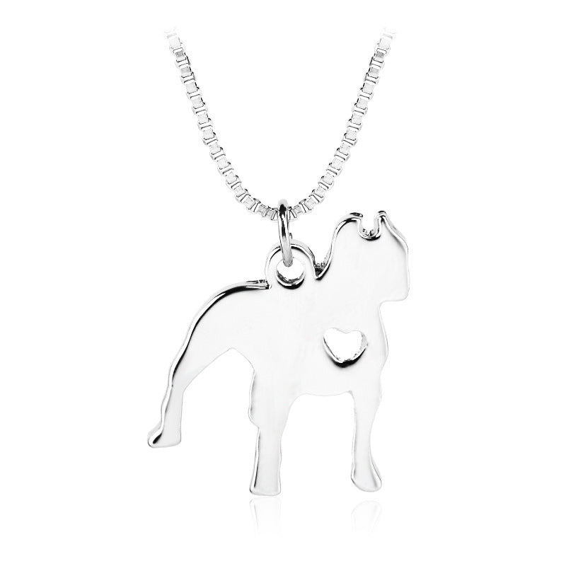 New silver heart in pitbull pendant necklace pet love pendants new silver heart in pitbull pendant necklace aloadofball Choice Image