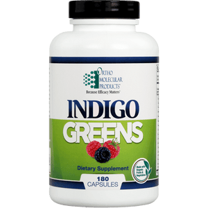 Indigo Greens Capsules 180ct - Ortho Molecular Products - ePothex