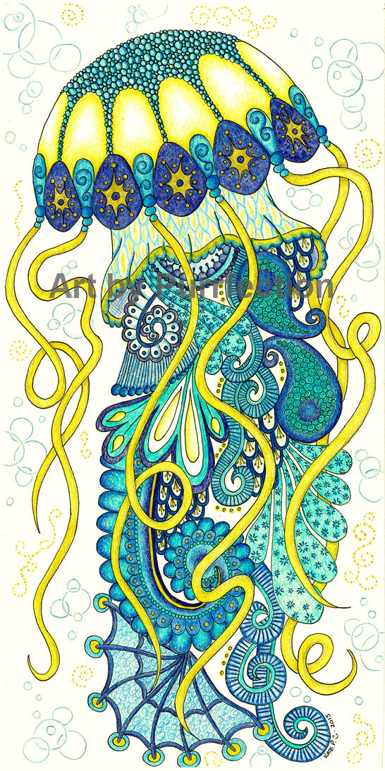 Joyful Jellyfish Sea Spirit - Prints