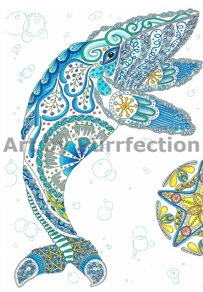 Wise and Watchful Whale Sea Spirit - Prints