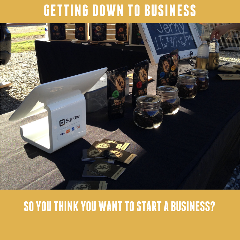 Getting Down To Business: So you think you want to start a business?