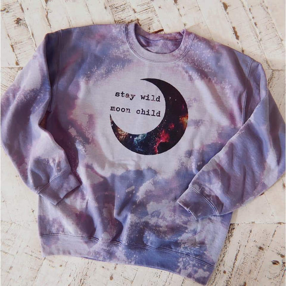 Stay wild moon child pullover