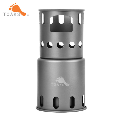 TOAKS STV-12 Titanium Backpacking Wood Burning Stove (Small) Outdoor Titanium Cooking System